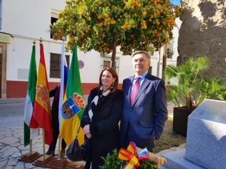 Esther Morell y el Embajador